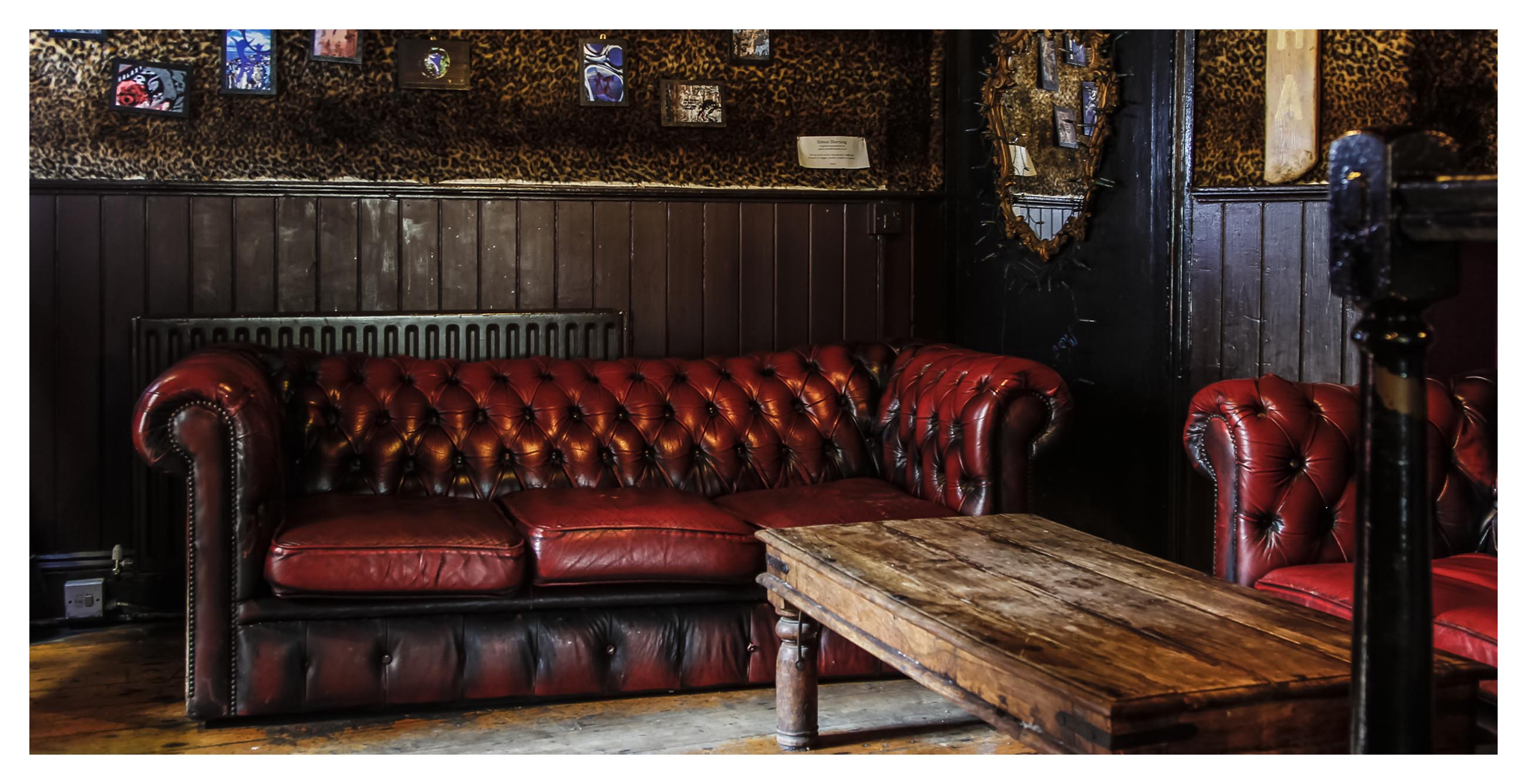 Cosy sofa area at the rear of the Caroline of Brunswick pub in Brighton